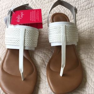 White new cute sandals